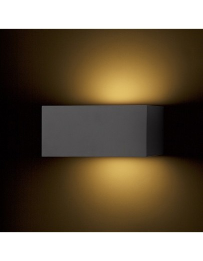 Miljøbillede af Durant Up/Down antrasitgrå udendørs væglampe Rendl 2