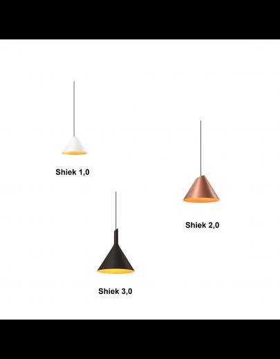 Miljøbillede Shiek pendel model 3.0 sort/guld Wever og Ducrè